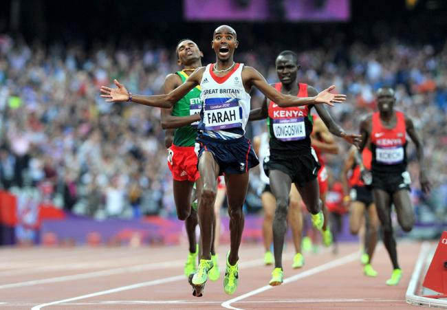 GNR DISAPPOINTMENT: Mo Farah says he has not had time to train for the Great North Run, which takes place next week
