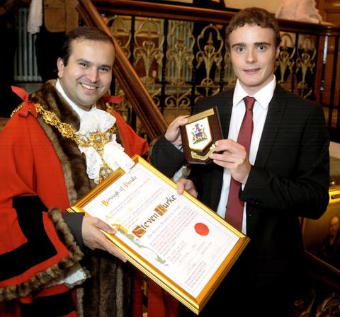 Redhill And Reigate Life: Steven Burke becomes a freeman of Pendle