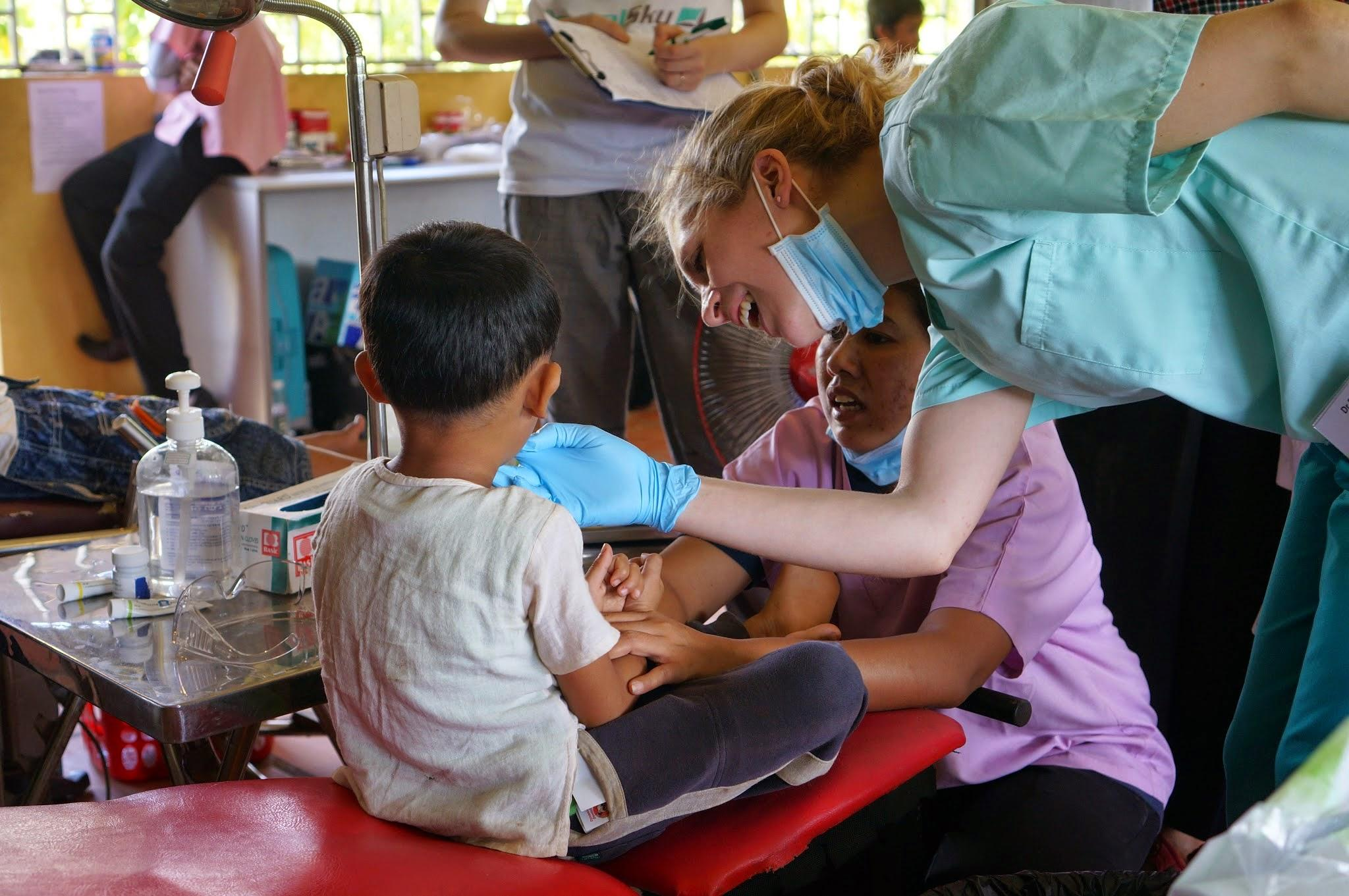 Bethan Hatton at work in Cambodia