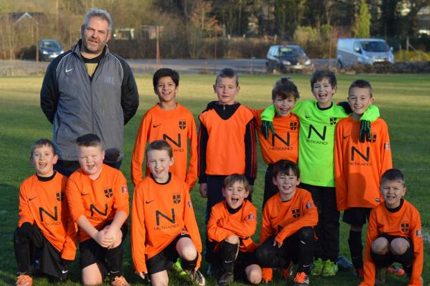 The Monotype under-9s football team