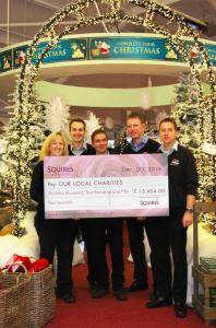 Garden centre grotto is a hit for the Children's Trust
