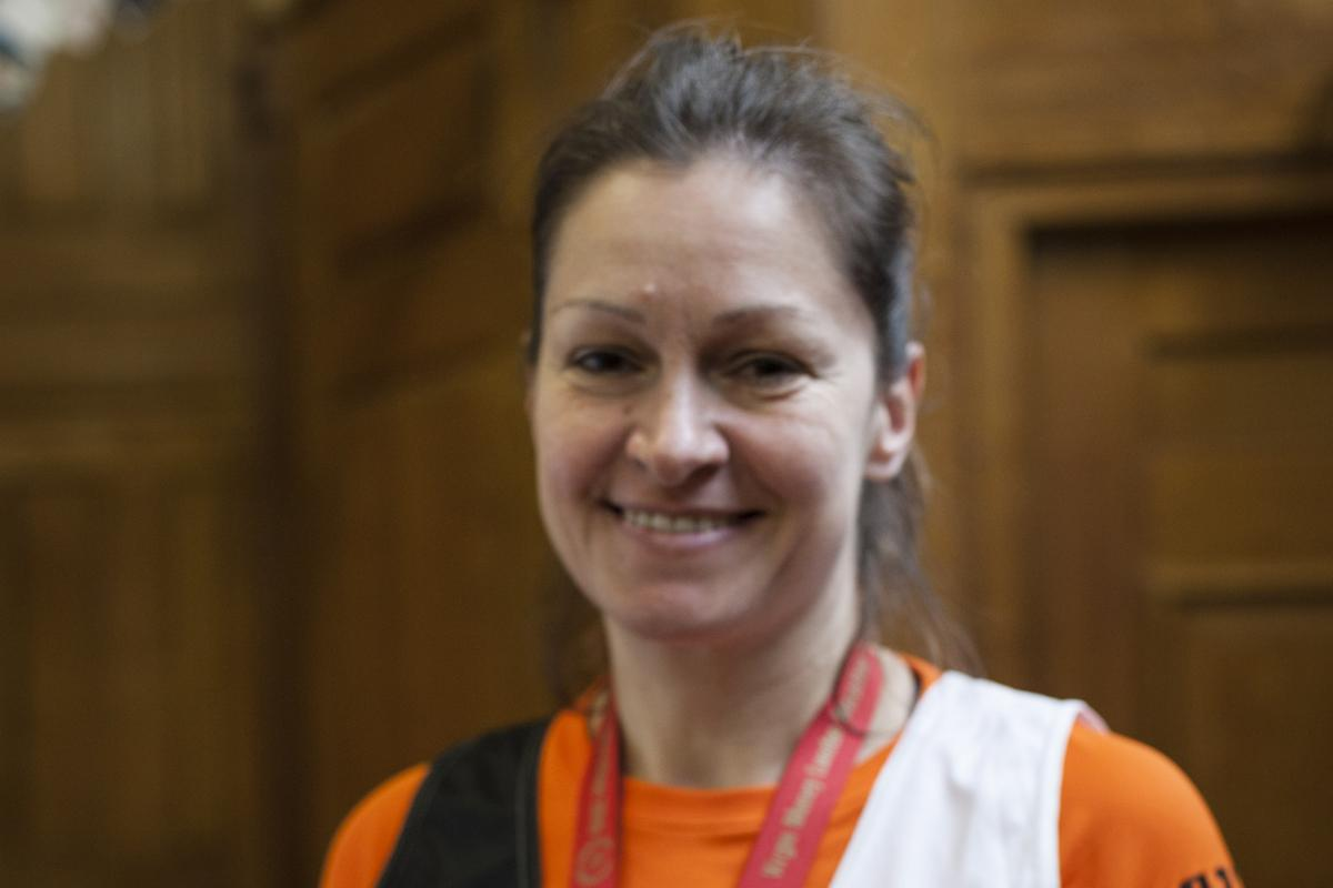 Ghislaine Bennion completed Sunday's London Marathon