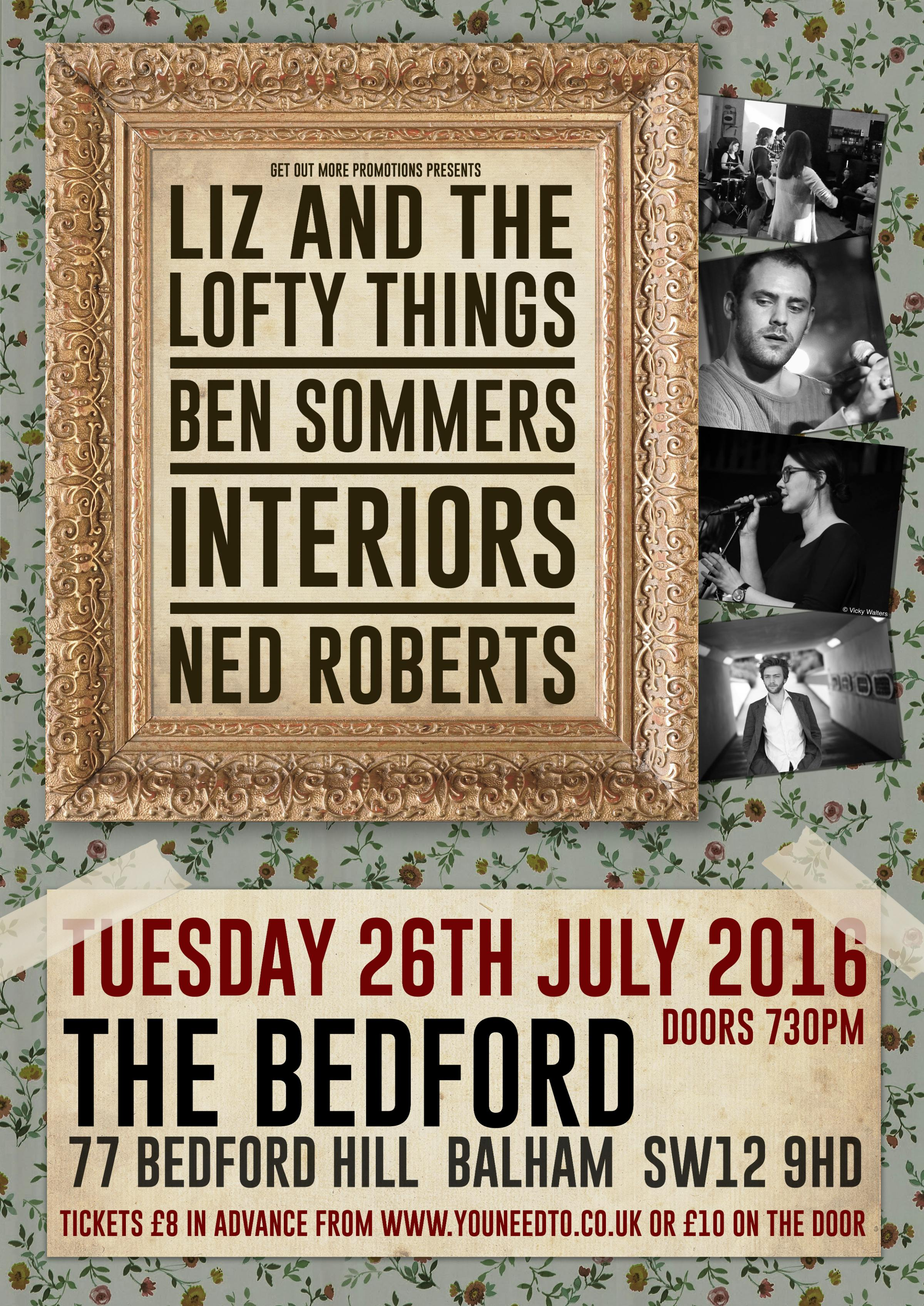 Liz & The Lofty Things + Ben Sommers + Interiors + Ned Roberts