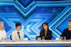 Louis Walsh, Sharon Osbourne, Nicole Scherzinger and Simon Cowell, during the audition stage of The X Factor (SYCO/THAMES TV/PA)