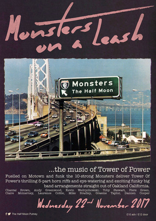 Monsters On A Leash-The Music of Tower of Power@The Half Moon Putney