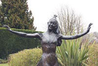 Most famous: The statue of Reigation Dame Margot Fonteyn in Riegate