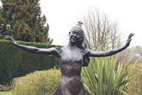 Redhill And Reigate Life: Most famous: The statue of Reigation Dame Margot Fonteyn in Riegate