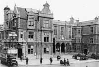 Times past: Redhill's Market Hall, completed in 1861, was a bustling place