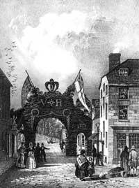 Reigate citizens built the arch to mark Queen Victoria's visit