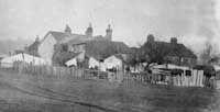 Roundabout: The cottages on what was Union Road Pic: S Ware