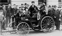 Nice wheels: This car was pictured outside the White Hart Hotel in Reigate in 1896