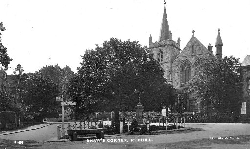 Shaws Corner as it was before the war memorial was erected in 1923