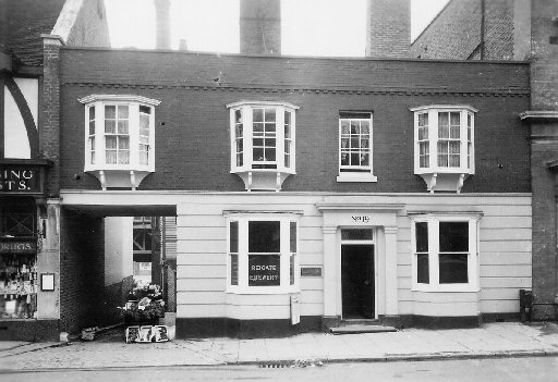 The offices of Mellersh and Neale in Reigate High Street in the 1930s. The site is now shops