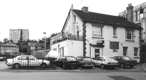 The British Legion Club in Clarendon Road was once a house called Elmsfield, the home of Captain Sutton. Pictured here in the early 1990s before it was demolished, it had the new telephone exchange next door to it. The Dome flats at can be seen in the dis