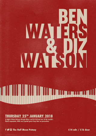 Ben Waters and Diz Watson with special guest Tony Uter @ The Half Moon Putney