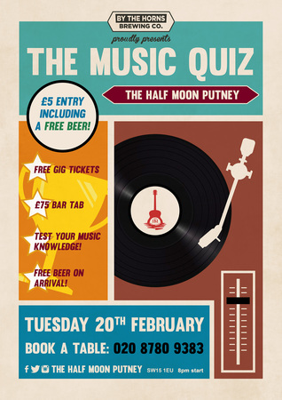 The Music Quiz - The Half Moon Putney
