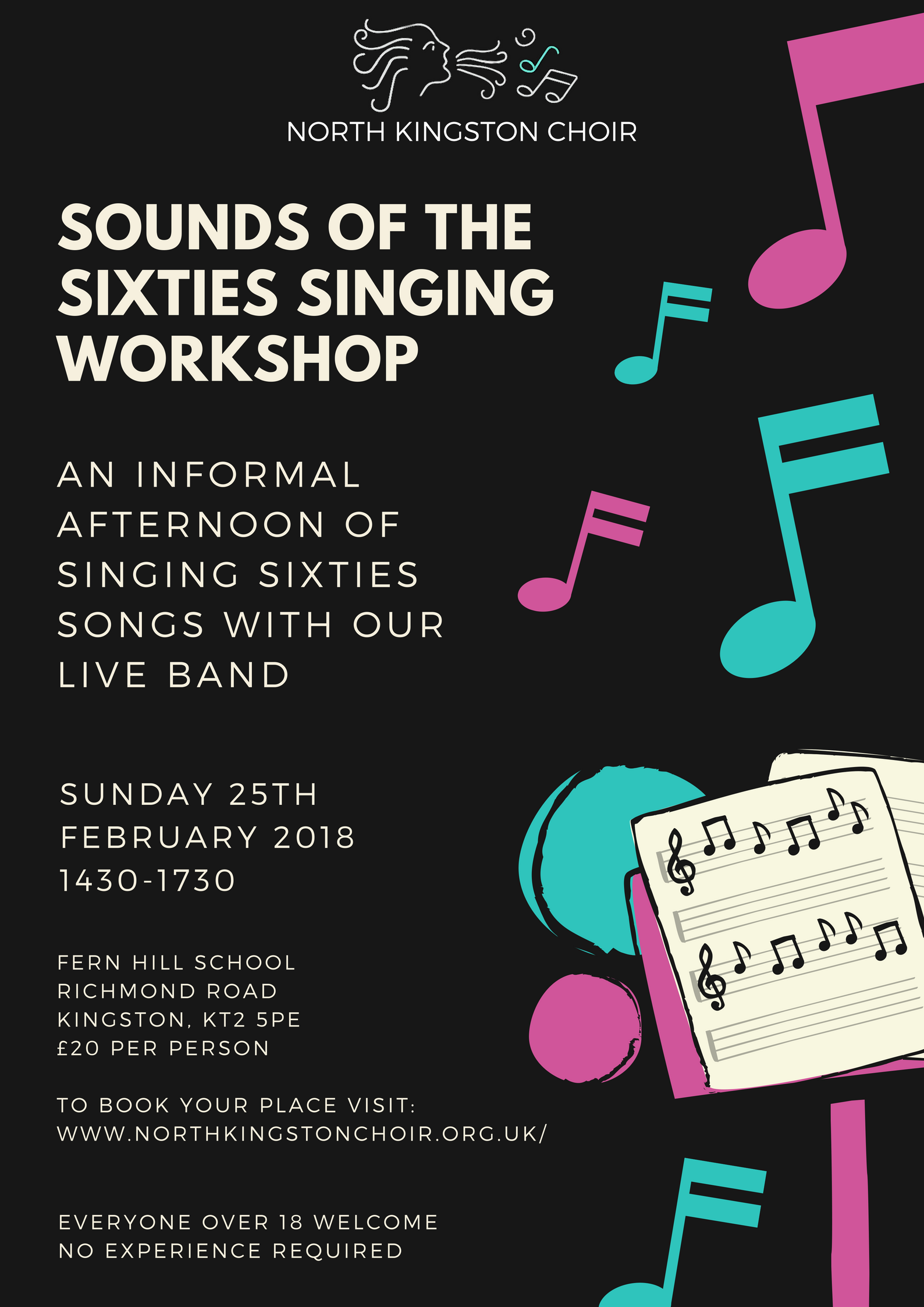 Sounds of the Sixties singing workshop