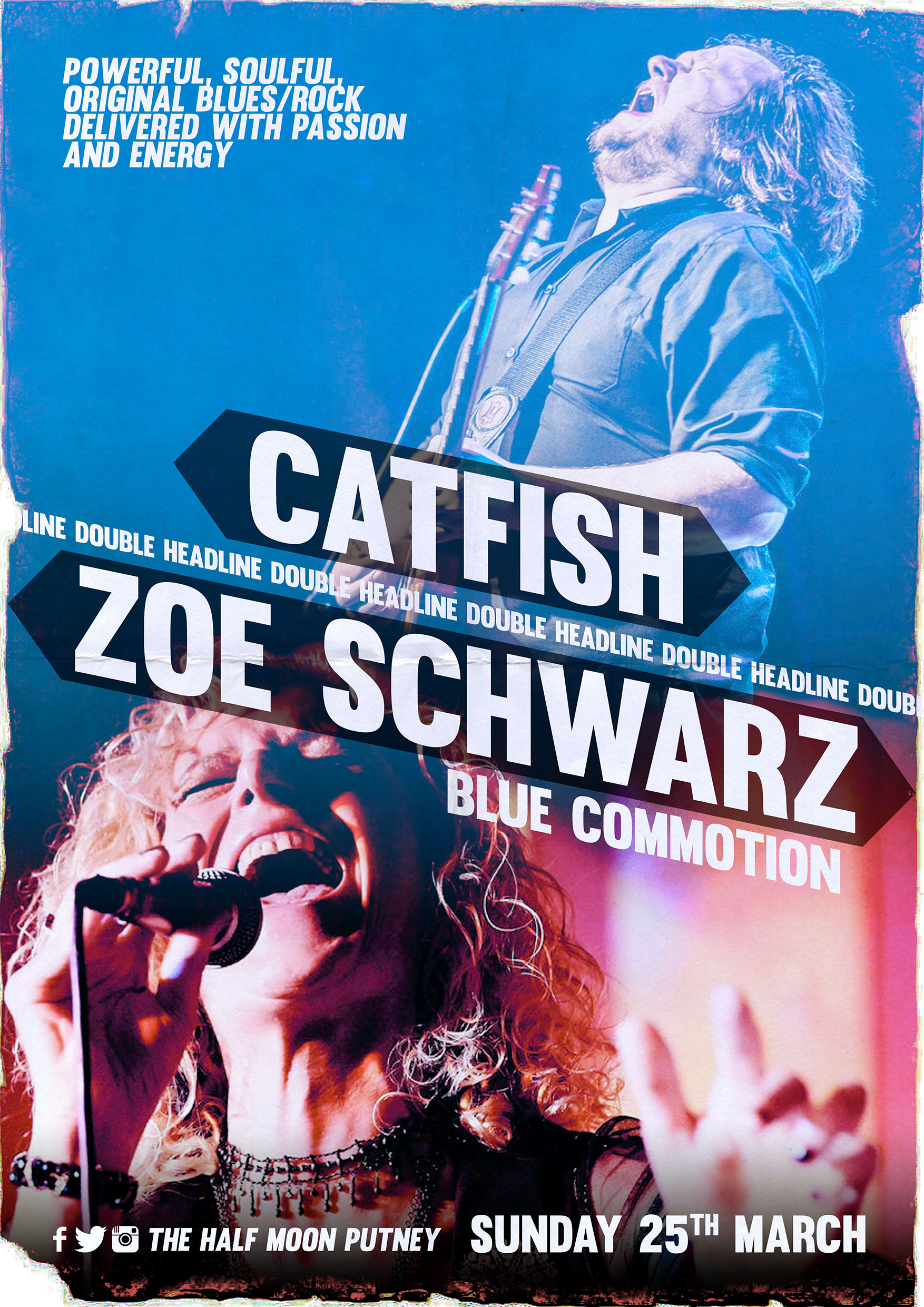 Zoe Schwarz Blue Commotion and Catfish play in London