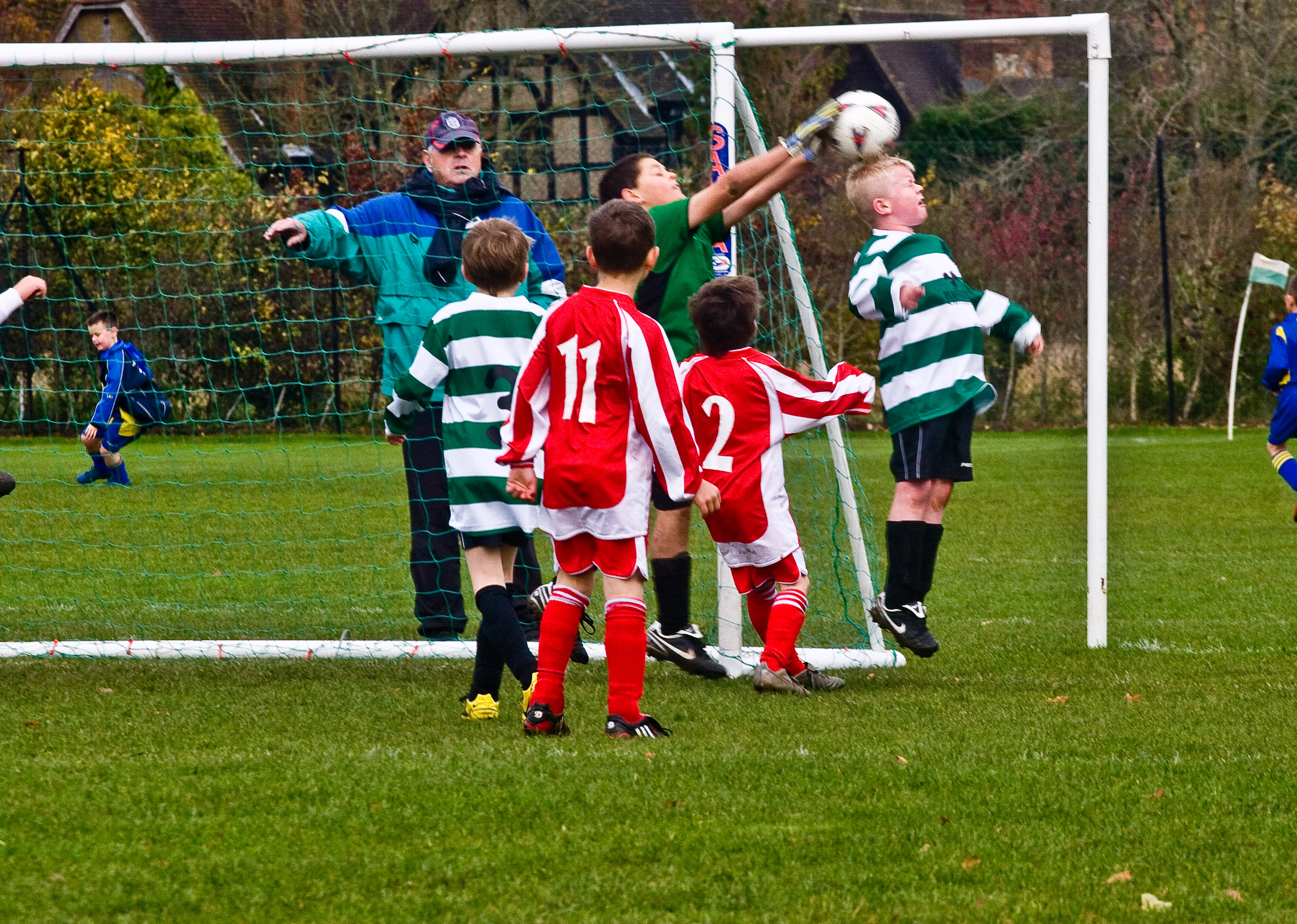 Chipstead's keeper takes another high ball