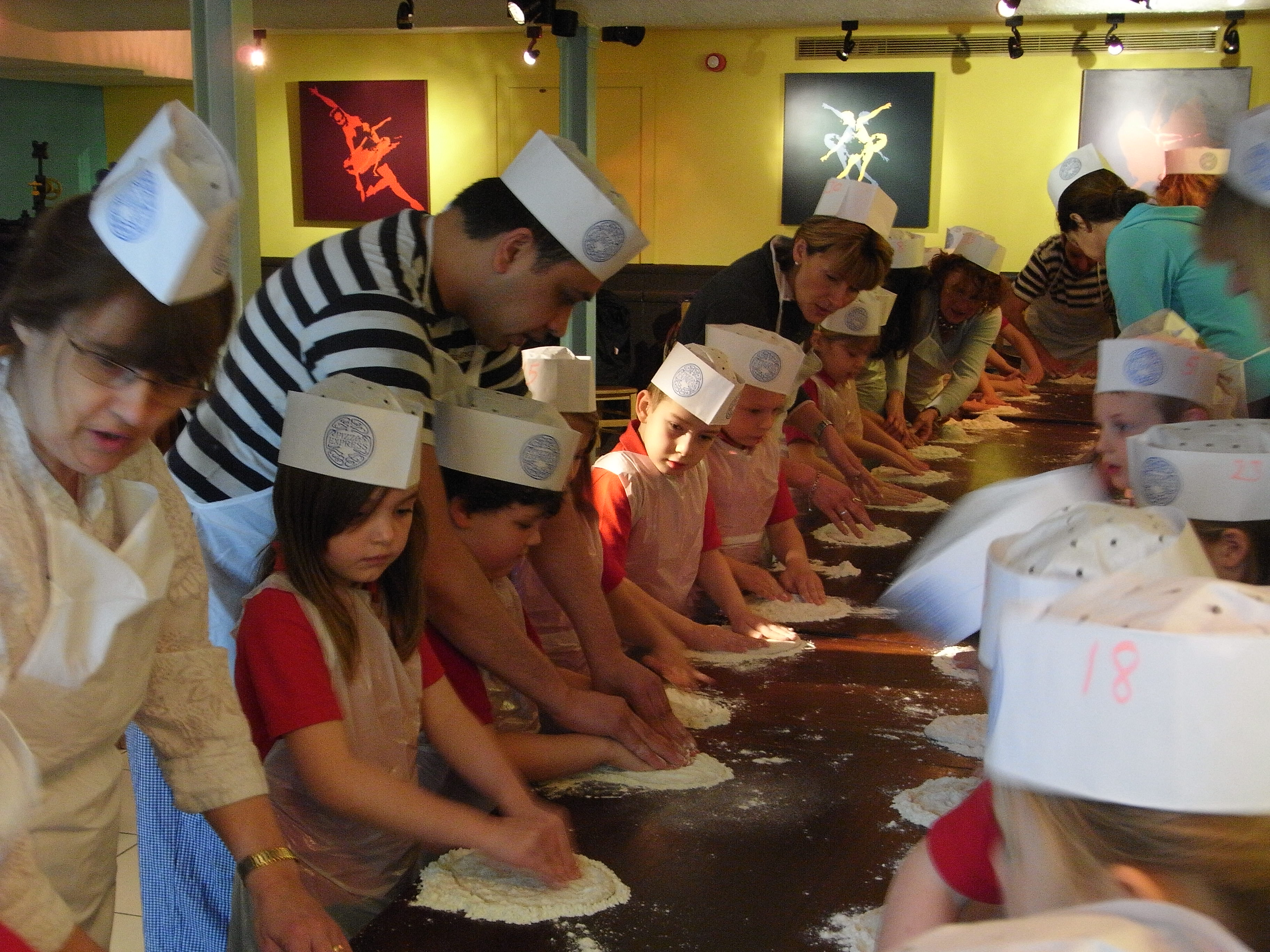 The youngsters enjoyed a hands-on visit to the restaurant