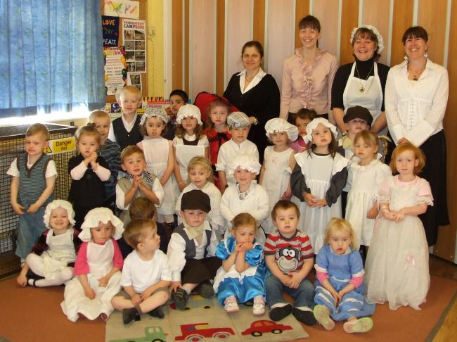 The children's Victorian Day included parlour games