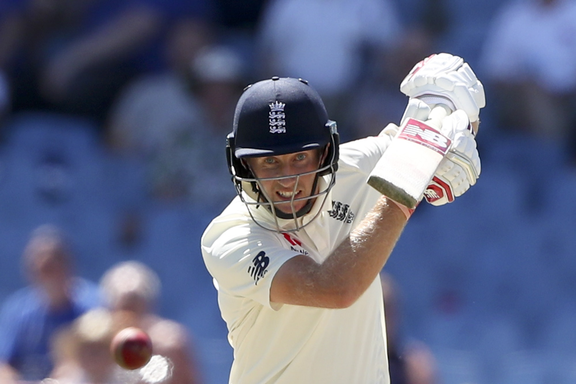 Joe Root, pictured, has been praised for his response to sledging from Shannon Gabriel